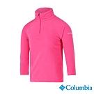 Columbia 哥倫比亞 童款-刷毛半開襟上衣-粉紅 UAG69870PK