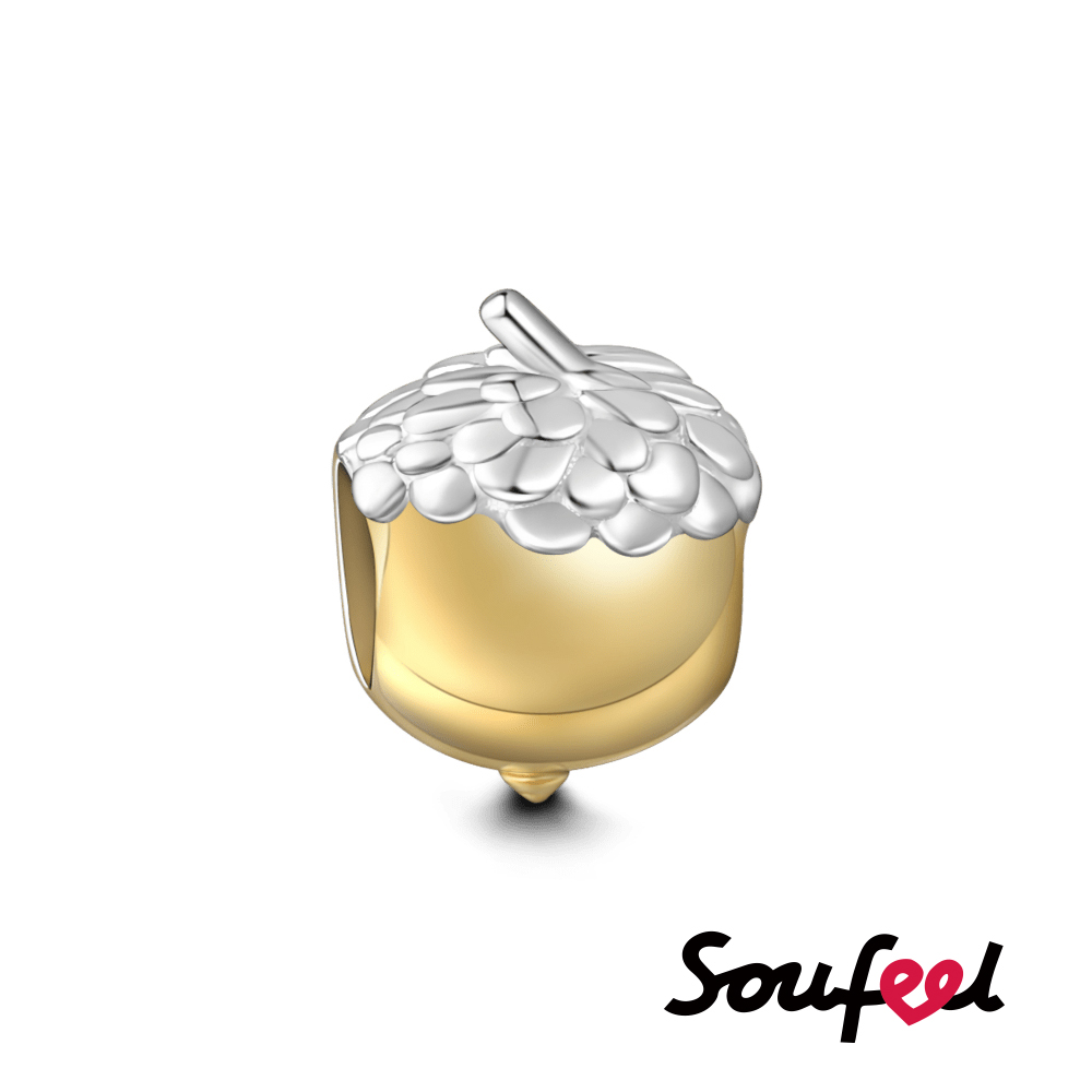 SOUFEEL索菲爾 925純銀珠飾 堅果  串珠