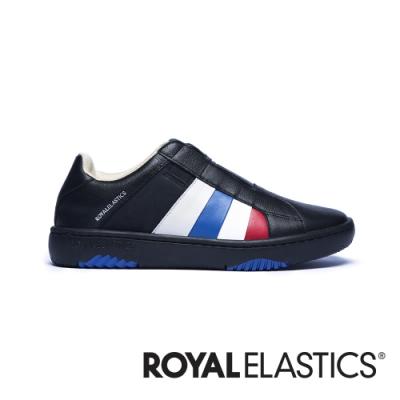 ROYAL ELASTICS Prince Albert 黑藍紅真皮時尚休閒鞋 (男) 01402-915