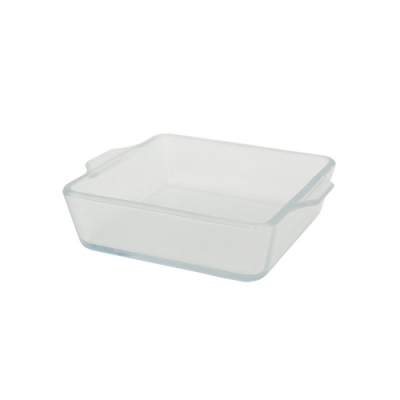 日本ADERIA 陶瓷塗層耐熱玻璃烤盤-方形400ml