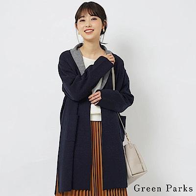 Green Parks 雙色層次設計長版罩衫