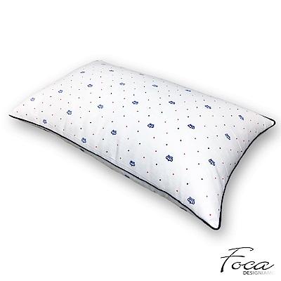 FOCA  抗菌彈力可水洗舒眠羽絲絨枕(一入)