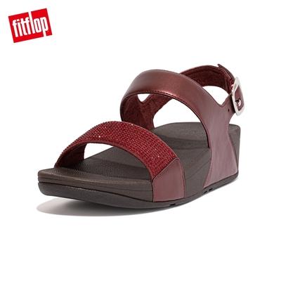 【FitFlop】LULU CRYSTAL EMBELLISHED BACK-STRAP SANDALS 經典水鑽後帶涼鞋-女(暗紅色)