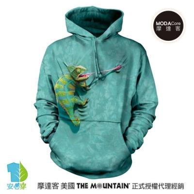 摩達客 美國The Mountain 攀岩變色龍 環保藝術長袖連帽T恤