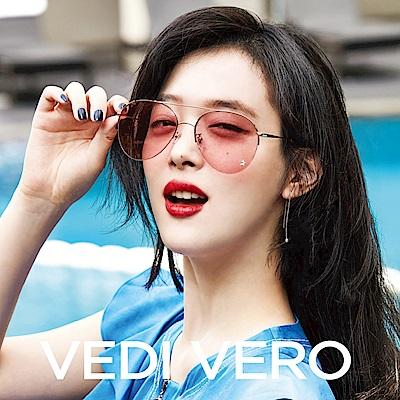 VEDI VERO 飛官款 太陽眼鏡 (玫瑰金配粉)VE862STAR