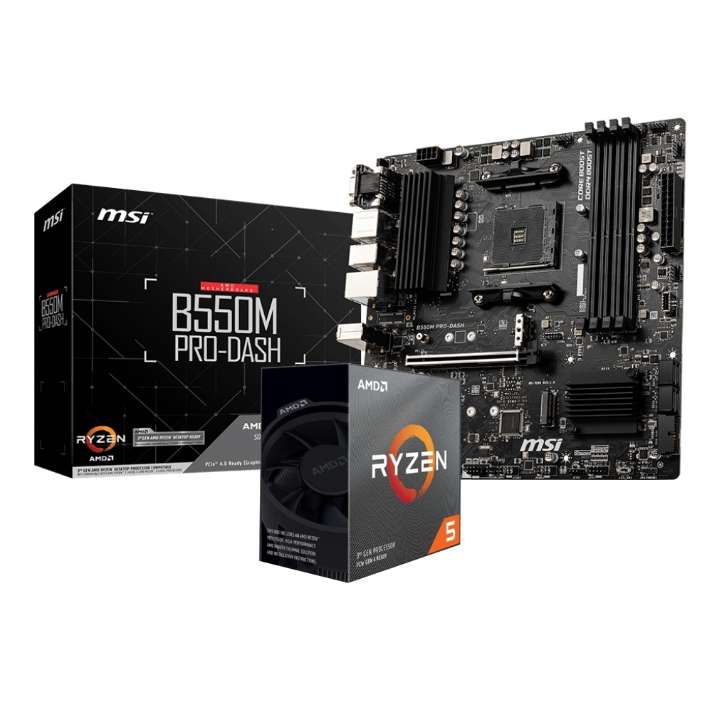 微星 B550M PRO DASH+AMD R5 3500X組合套餐