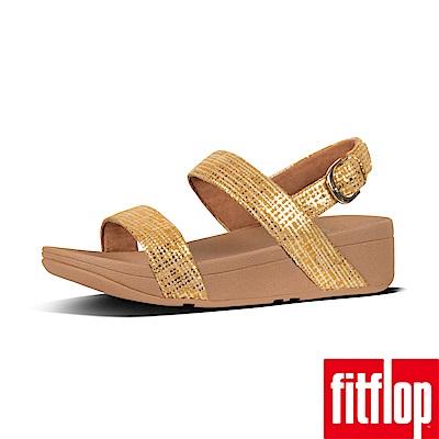 FitFlop CHAIN PRINT後帶涼鞋黃色