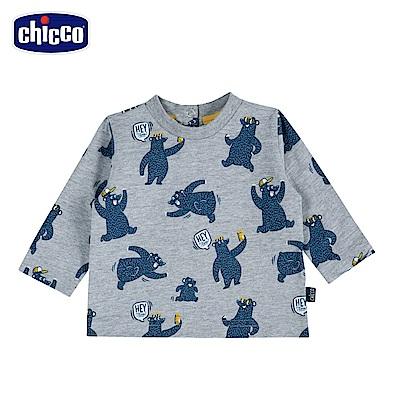 chicco-To Be Baby-森林熊長袖上衣-灰(18個月-4歲)