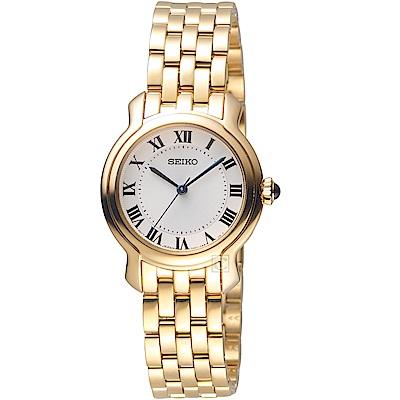 SEIKO 優雅氣質時尚腕錶(SRZ520P1)金色/29mm