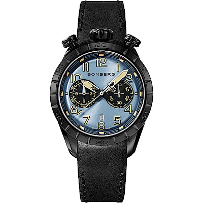 BOMBERG 炸彈錶 BB-68 系列復刻飛行計時碼錶-藍/44mm