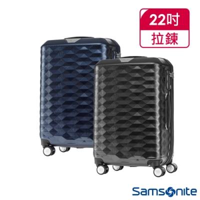 Samsonite新秀麗 22吋Polygon 極致奢華PC煞車雙輪TSA行李箱(兩色任選)