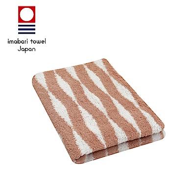 日本今治 純天然有機棉無染色毛巾(海波紋-粉藕紅)