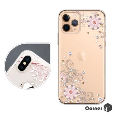 Corner4 iPhone 11 Pro 5.8吋奧地利彩鑽雙料手機殼-風鈴草