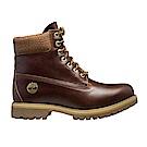 Timberland 男款中咖啡色皮革6吋防水靴 | A1P9PH42