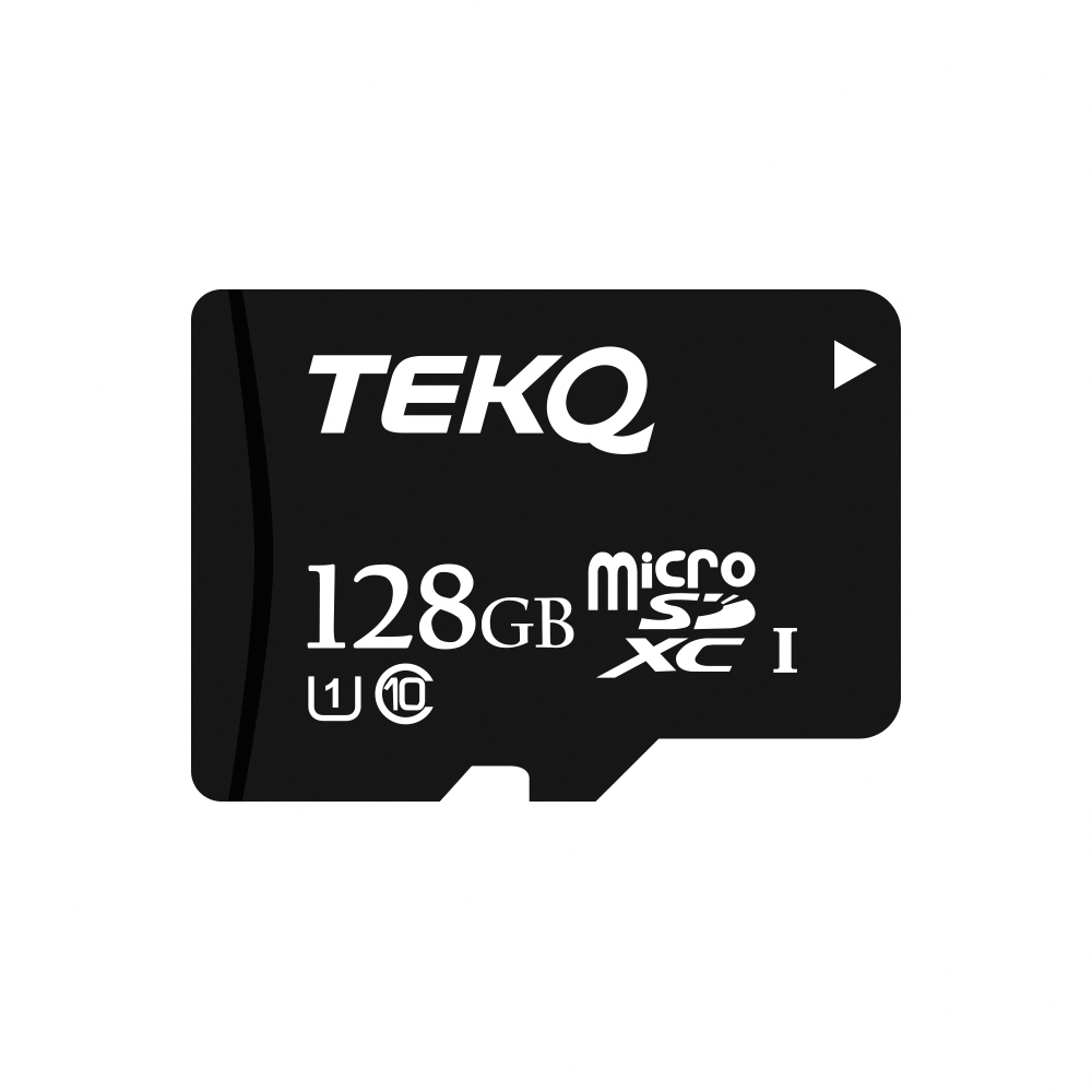 TEKQ 128G記憶卡 microSDXC C10 U1高速記憶卡 附轉卡