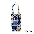 uhplus 隨行環保飲料袋(長版)- 熊貓家族(藍)