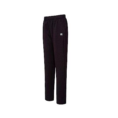 FILA 女吸濕排汗針織長褲-黑色 5PNT-1324-BK