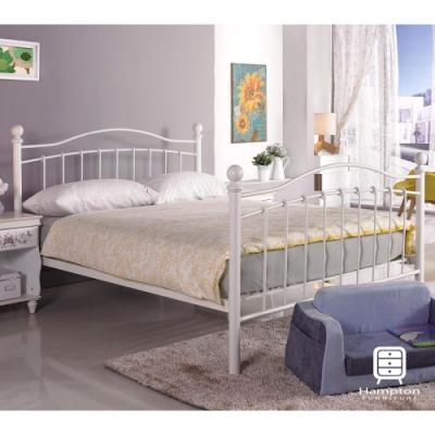 漢妮Hampton羅倫系列5尺白色鐵床床架-160*200*112 cm