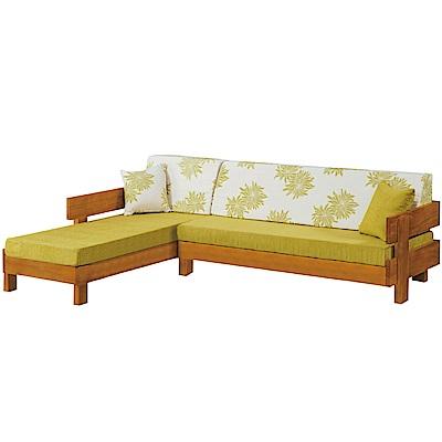 綠活居 麥金尼亞麻布實木L型沙發(左右二向)-262x180x81cm免組
