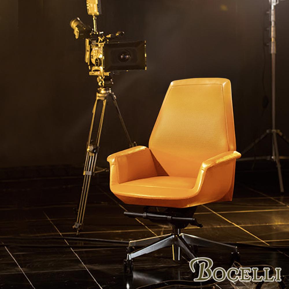 BOCELLI-CLASSICO經典風尚中背辦公椅(義大利牛皮)原皮褐