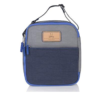 TWELVElittle COURAGE 美國防潑水保冷袋 保溫袋 便當袋(電藍灰)