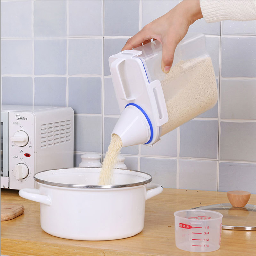[aiken]新一代4扣式日式密封雜糧米桶 (小號1.5L)