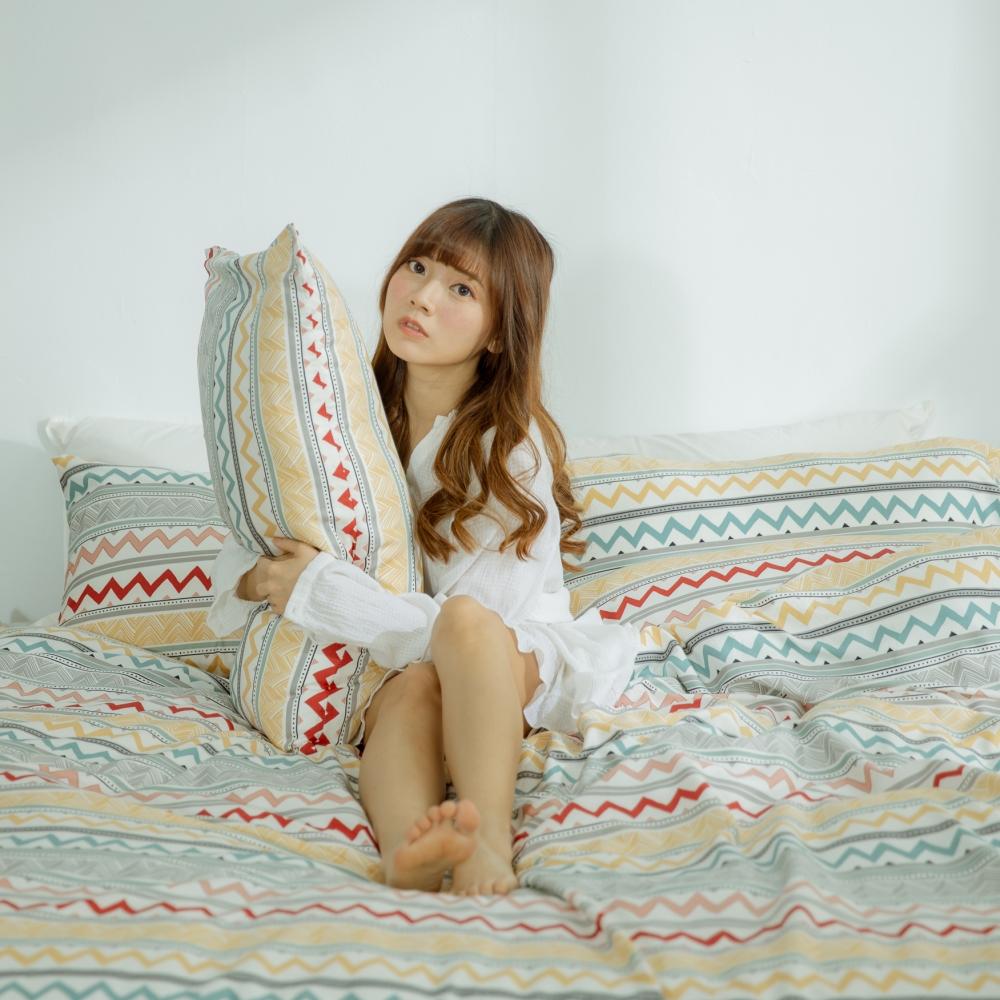 AmissU 頂級60支新疆長絨棉雙人加大床包被套四件組 浮生若夢