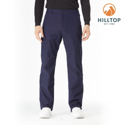 【hilltop山頂鳥】男款GORE-TEX防水透氣保暖長褲H31MM2海底藍