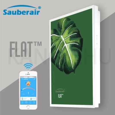 Sauberair 6-10坪 森之綠白框 智能控制空氣清淨機 FLAT-BT 台灣品牌 壁掛畫框式