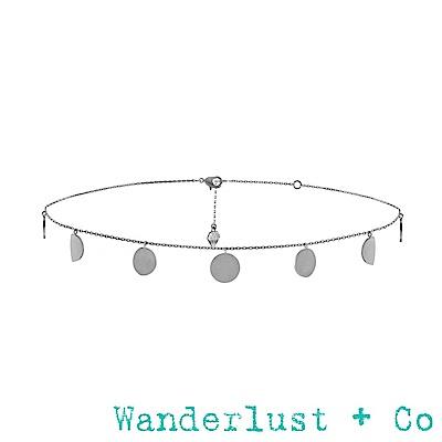 Wanderlust+Co月蝕頸鍊 - 銀色