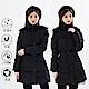 【遊遍天下】女款90%羽絨防風防潑水顯瘦長版可拆連帽外套GJ22012黑色 product thumbnail 1