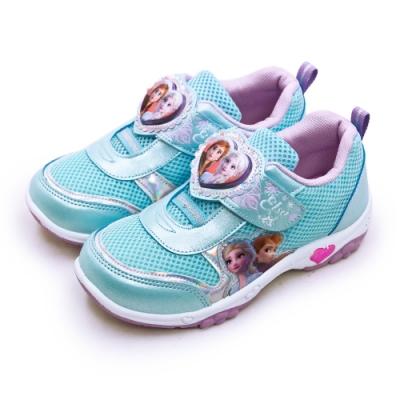 Disney 迪士尼  冰雪奇緣 FROZEN 兒童電燈慢跑鞋 粉藍 94906