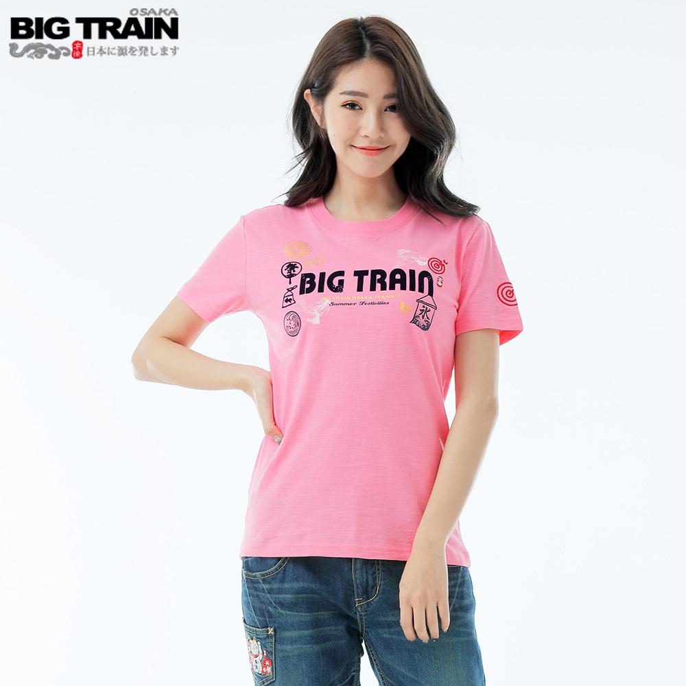 BigTrain 夏季祭典情侶T女款-女-桃粉