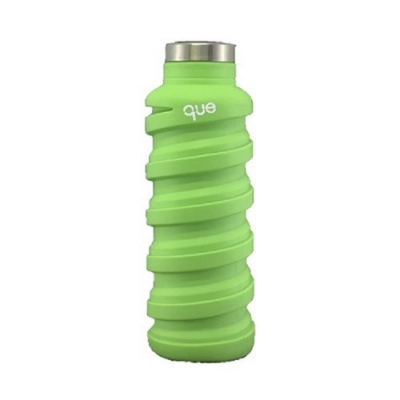美國 que 環保伸縮水瓶 600ml-螢光綠