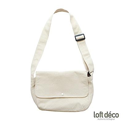 Loft Deco | Beige | 純色報童包