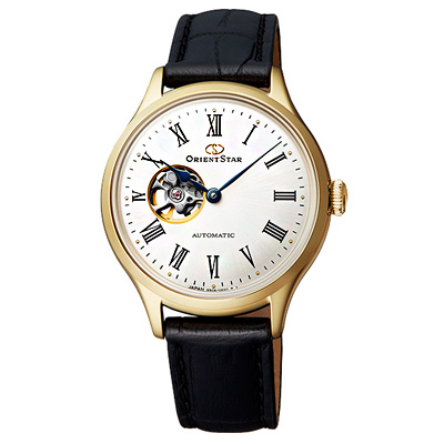ORIENT STAR 東方之星真皮機械手錶RE-ND0004S-金框/30mm