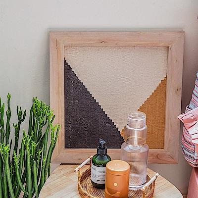hoi! 庫馬里印度手工編織棉壁面木框裝飾-交錯-45x45cm (H014279153)