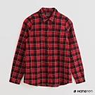 Hang Ten -女裝 - 經典英倫風格紋長袖襯衫 - 紅