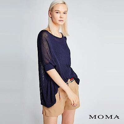限時商品 | MOMA 鏤空織紋針織上衣_2色