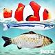 貓本屋 仿真魚 寵物絨毛玩具3入(小丑魚+鯽魚+秋刀魚) product thumbnail 1