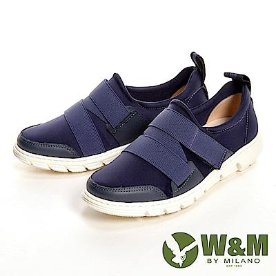 W&M 輕量透氣彈力帶休閒 女鞋-藍(另有黑、紅)