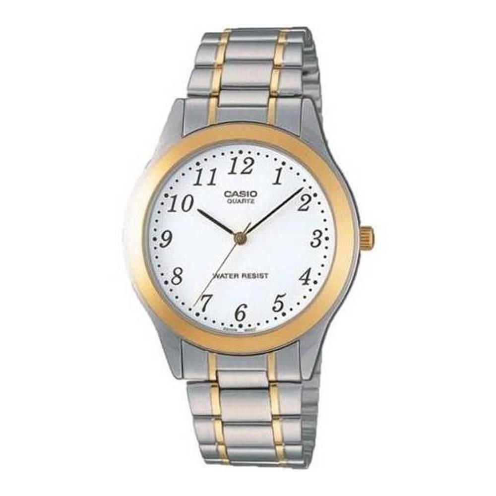 CASIO 簡約都會風設計男不鏽鋼腕錶-(MTP-1128G-7B)/38mm