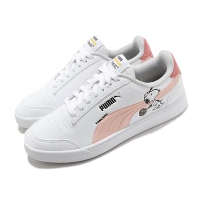 Puma 休閒鞋 Peanuts Shuffle 史努比 女鞋 基本款 簡約 聯名 舒適 大童 穿搭 白 粉 37573902