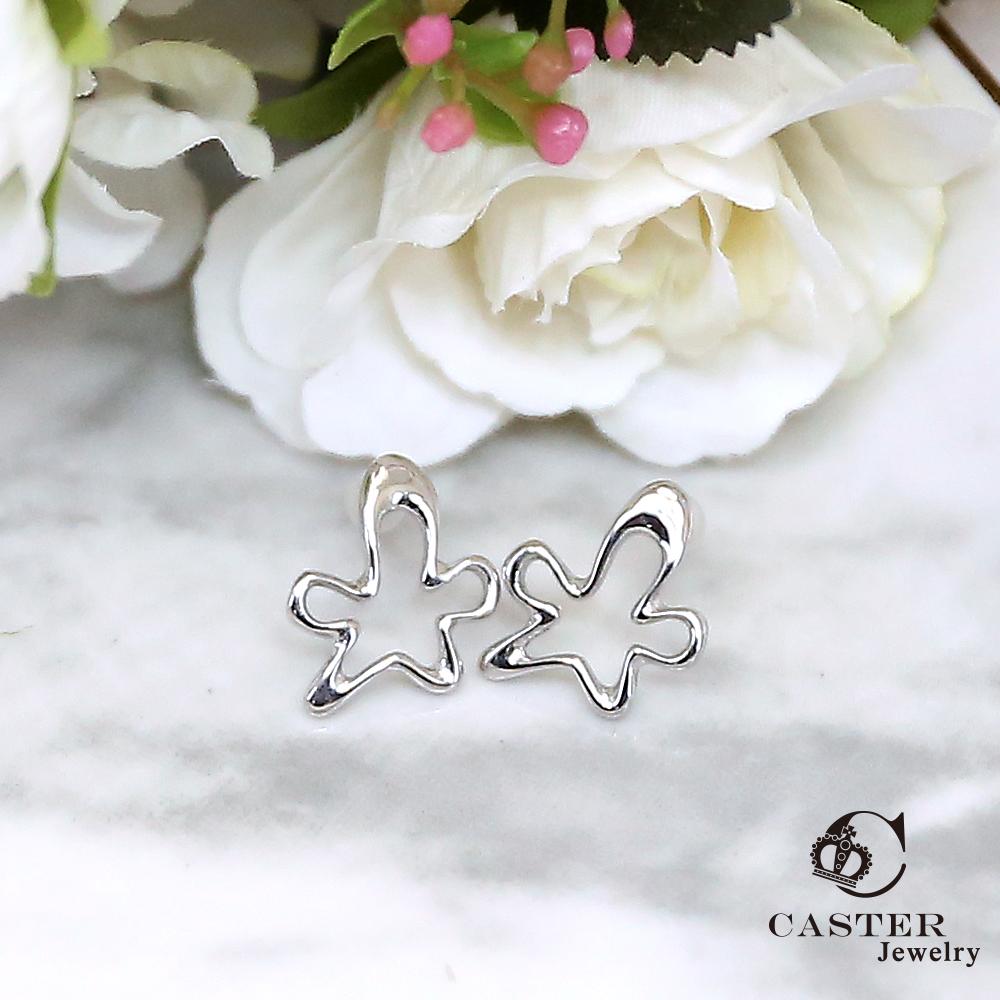 日本 凱斯特 CASTER 精靈在跳舞 時尚銀耳環 防抗過敏 SUS316L頂級不鏽鋼飾品