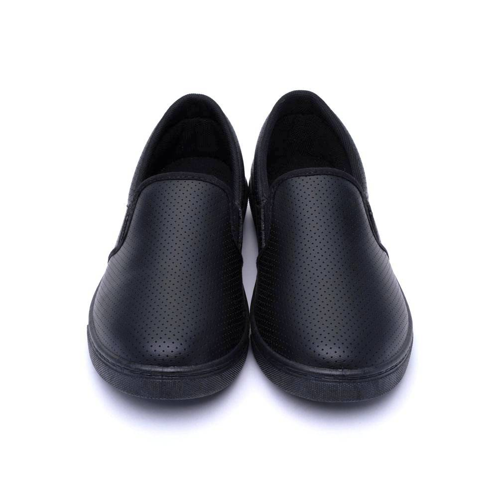 ARRIBA艾樂跑女鞋-皮質懶人鞋 便鞋-黑/白(AB8075)