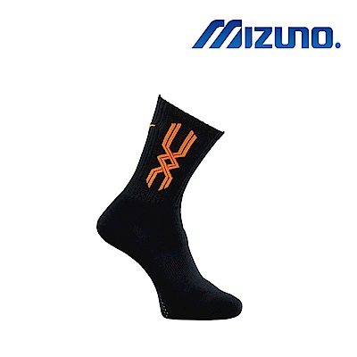 MIZUNO 美津濃 男運動厚底襪 5入 黑X橘 32TX800854
