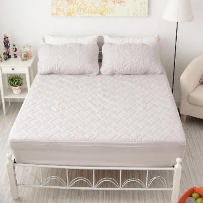 BUHO布歐 防水床包式竹炭保潔墊+枕墊組─雙人特大
