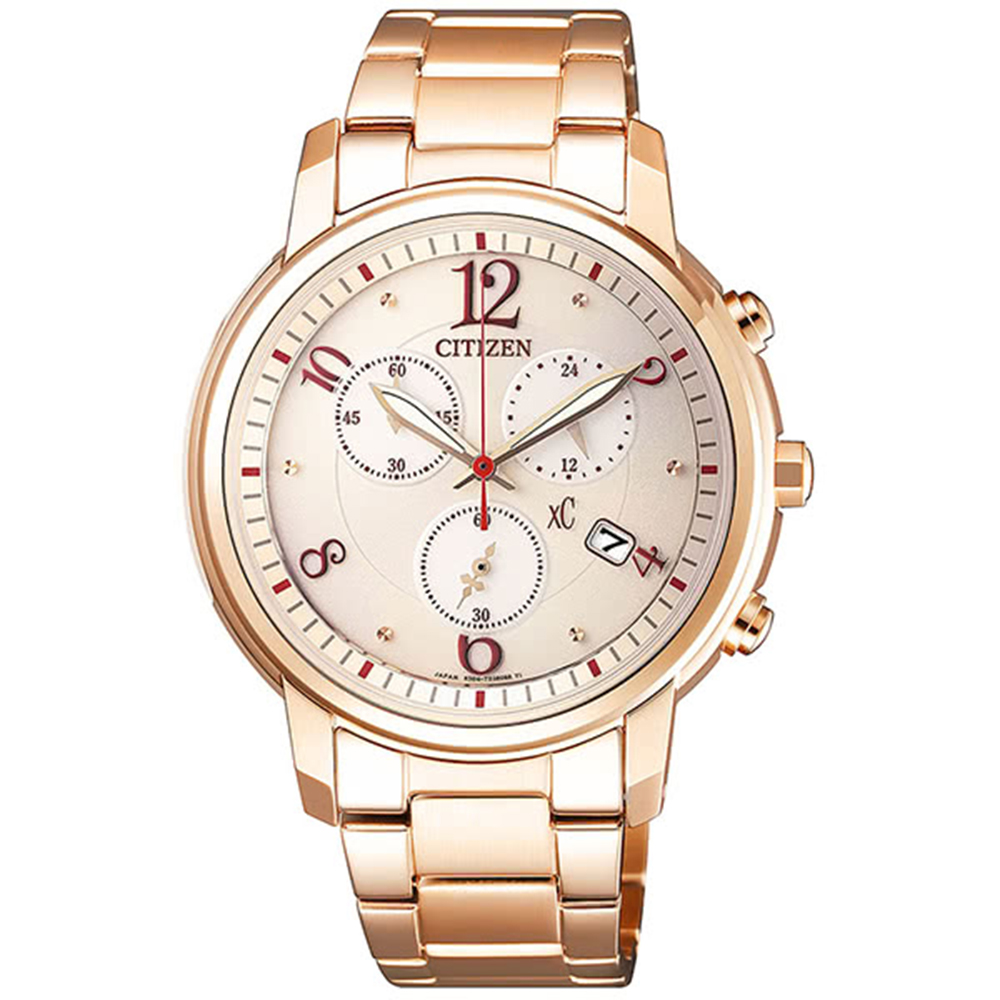 CITIZEN 星辰限定XC 甜美知性光動能計時女用腕錶(FB1433-52W)