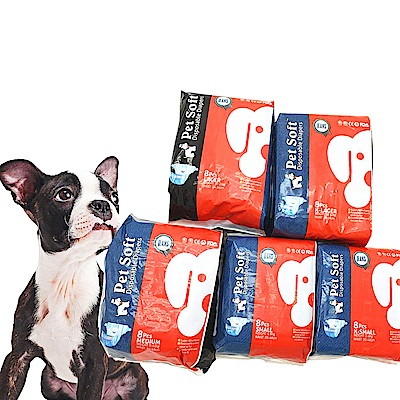 【輕薄牛仔風pet soft】狗狗生理褲寵物紙尿褲尿不濕S(3~5kg)
