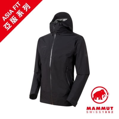【Mammut 長毛象】Convey Tour HS GTX AF 防水連帽外套 黑色 男款 #1010-28450